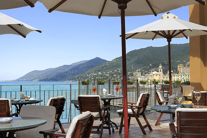 Bar of the Hotel Cenobio dei Dogi in Camogli
